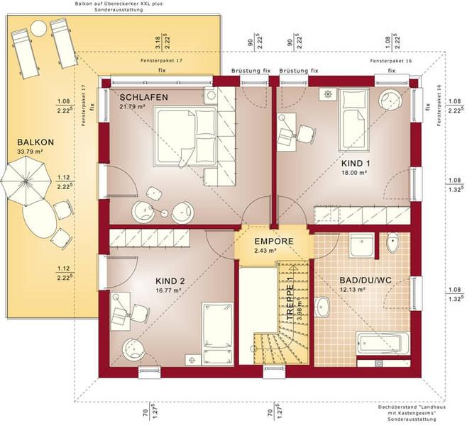 bien zenker haus evolution 154 v11 grundriss obergeschoss - Bien Zenker Haus