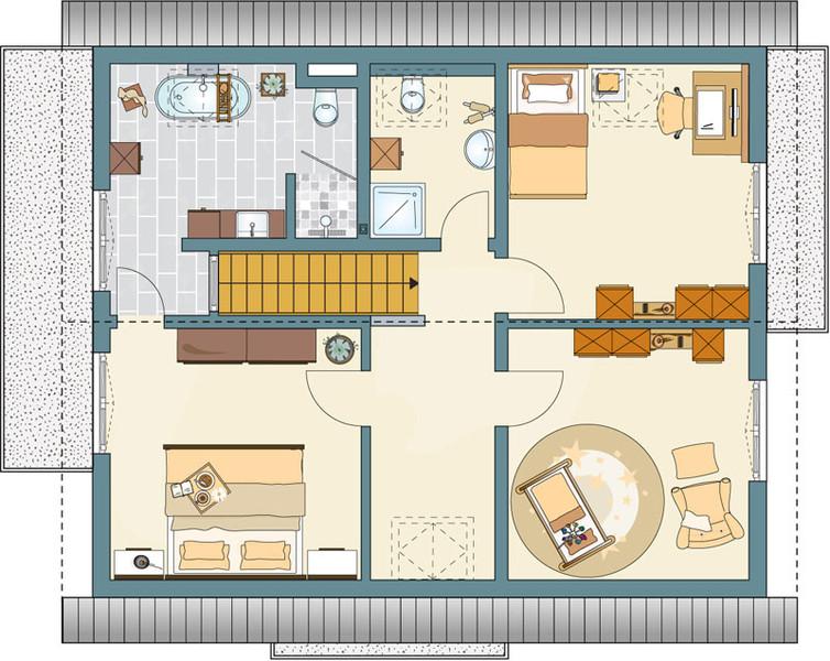Fingerhaus neo grundriss  Haus bis 300.000 € von FingerHaus - NEO 312 Musterhaus Bad Vilbel