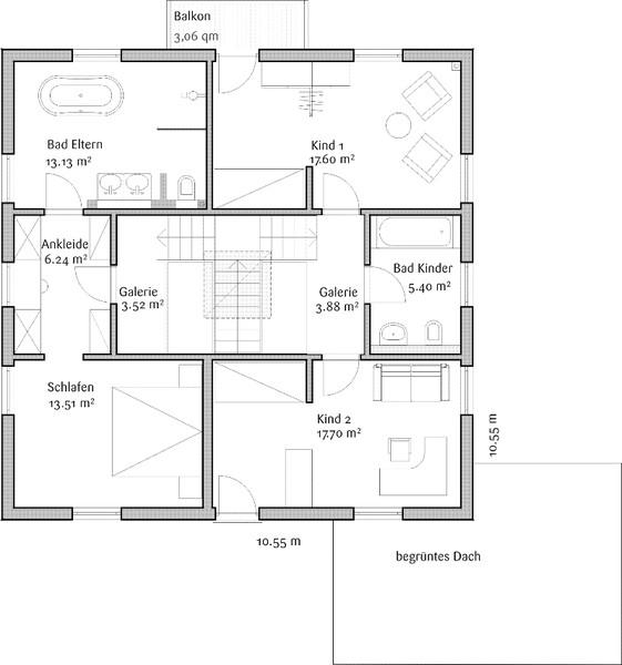 Modernes fertighaus von fischerhaus toskanahaus magnolie for Zweifamilienhaus grundriss beispiele