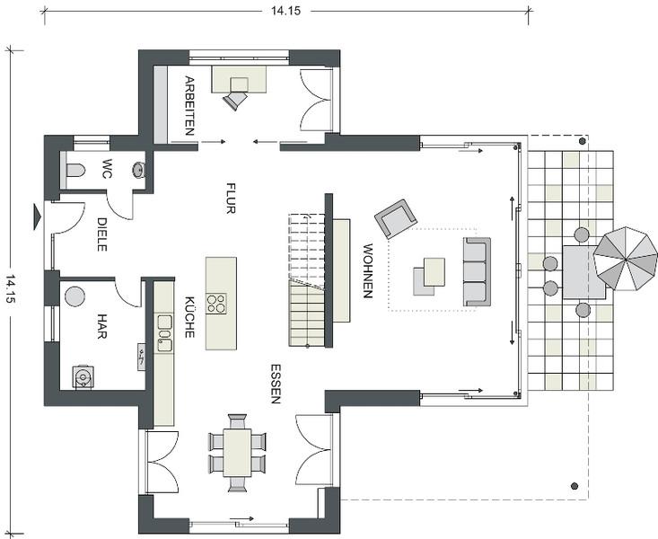 massive h user von heinz von heiden villa eiche. Black Bedroom Furniture Sets. Home Design Ideas