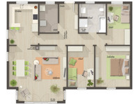 Town & Country Haus - Bungalow 110 - Grundriss EG