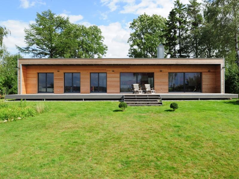 Fertigteilhaus bungalow holz  Fertighaus Mediterran von Baufritz - Bungalow Modern