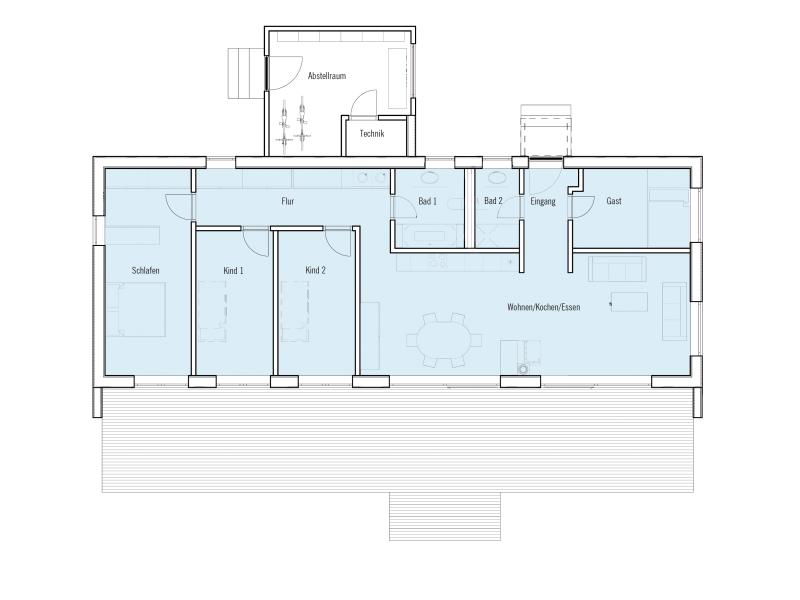 Fertighaus mediterran von baufritz bungalow modern for Moderne bungalows grundrisse