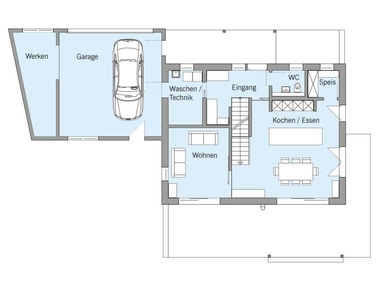 fertighaus von baufritz haus einfamilienhaus. Black Bedroom Furniture Sets. Home Design Ideas