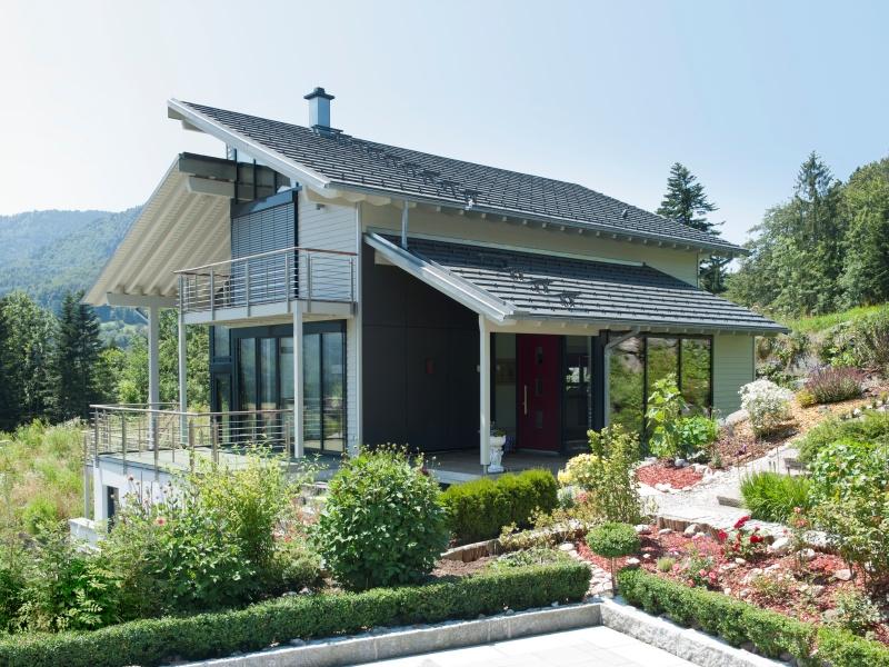 Modernes fertighaus von baufritz haus eliasch for Modernes haus schweiz