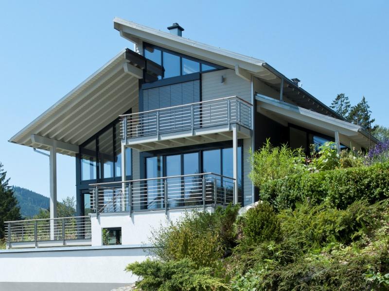 modernes fertighaus von baufritz haus eliasch. Black Bedroom Furniture Sets. Home Design Ideas