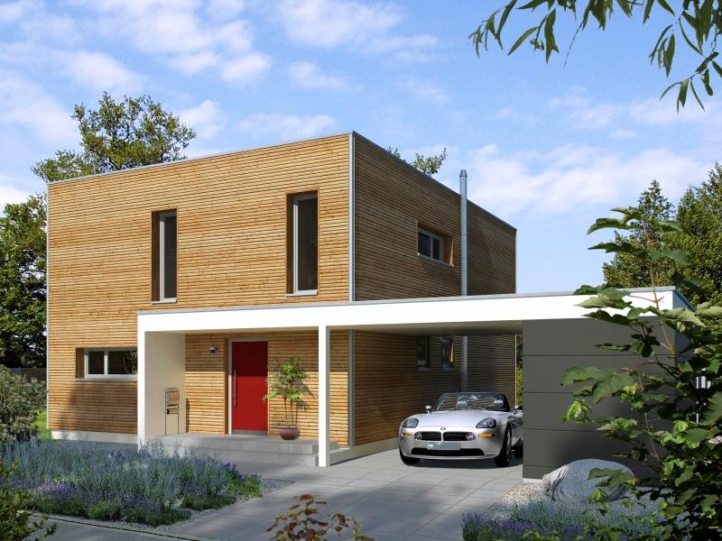 modernes fertighaus von baufritz haus bauhaus. Black Bedroom Furniture Sets. Home Design Ideas
