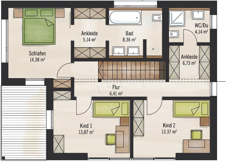 Holzhaus von Baufritz - Haus Bauhaus