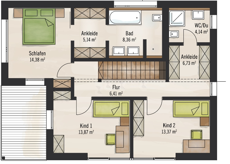 Fertighaus grundrisse doppelhaus  Fertighaus über 300.000€ von Baufritz - Haus Bauhaus