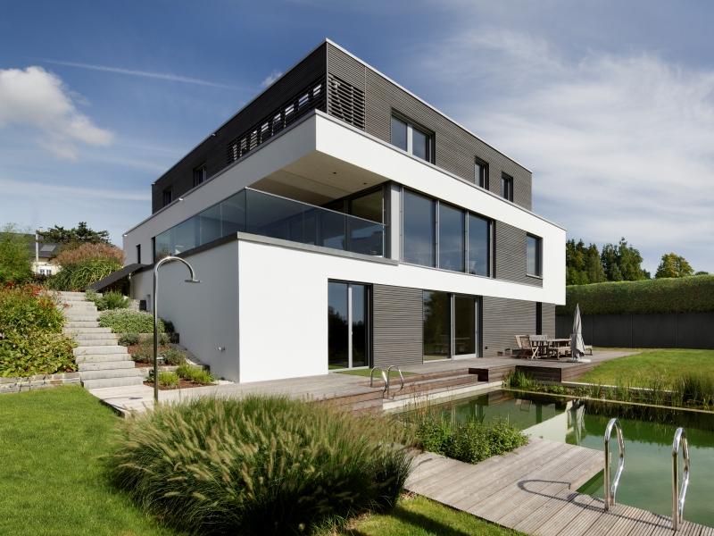 Modernes fertighaus von baufritz haus kieffer for Minimalismus haus bauen