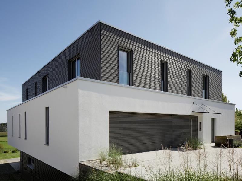 modernes fertighaus von baufritz haus kieffer. Black Bedroom Furniture Sets. Home Design Ideas