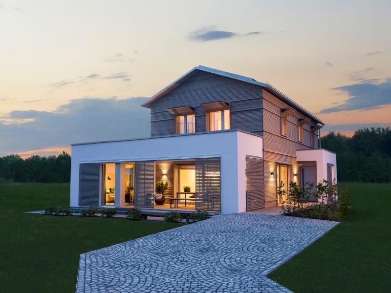 holzhaus von baufritz musterhaus haus natur design. Black Bedroom Furniture Sets. Home Design Ideas