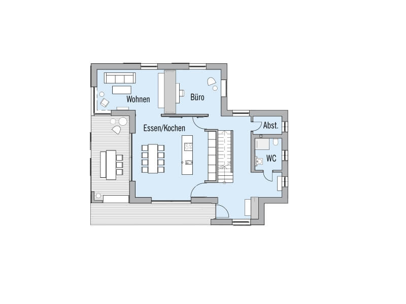 Holzhaus von baufritz musterhaus haus natur design for Design haus grundriss