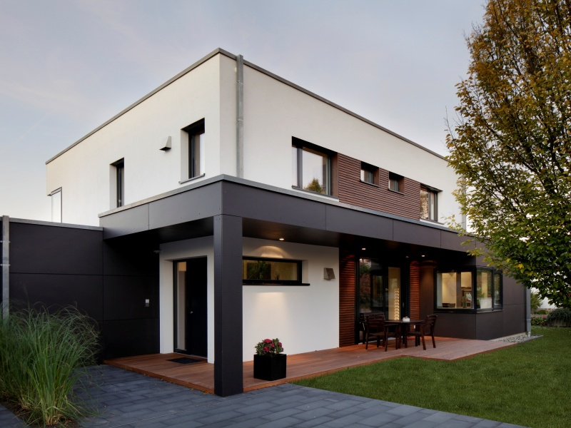Modernes fertighaus von baufritz haus nilles for Modernes haus fassade