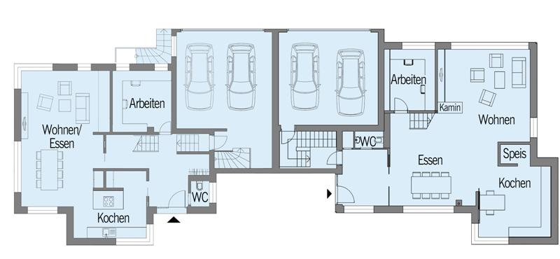 Modernes fertighaus von baufritz haus nilles for Moderne grundrisse haus