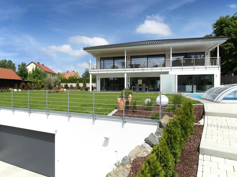 Modernes Fertighaus von Baufritz - Haus Riederle