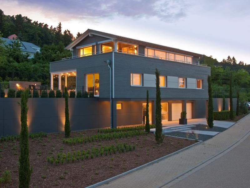 modernes fertighaus von baufritz haus schwaab. Black Bedroom Furniture Sets. Home Design Ideas