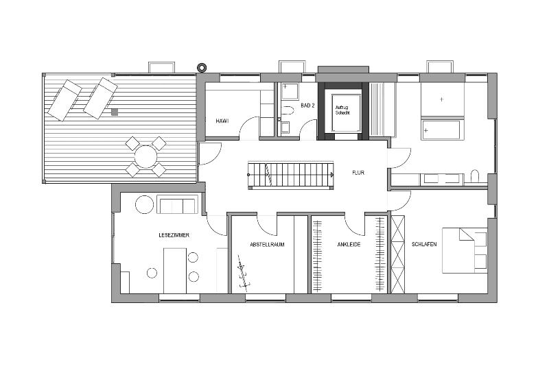 Einfamilienhaus mit doppelgarage modern grundriss  Haus Mit Doppelgarage Grundriss ~ Innenraum und Möbel