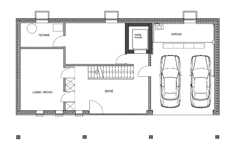 Einfamilienhaus grundriss mit doppelgarage  Modernes Fertighaus von Baufritz - Haus Schwaab