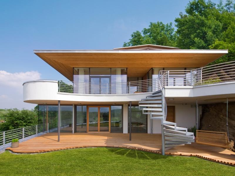 Modernes fertighaus von baufritz haus weitblick for Modernes haus fertighaus