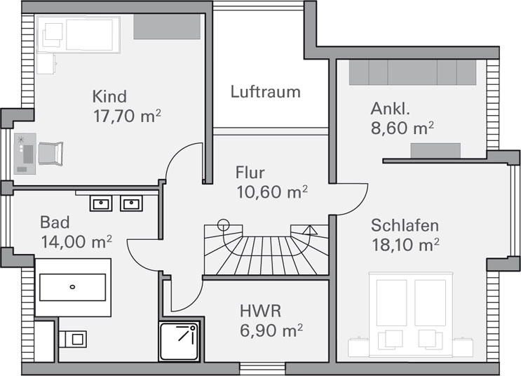 Modernes massivhaus von baumeister haus haus ley for Modernes haus mit luftraum