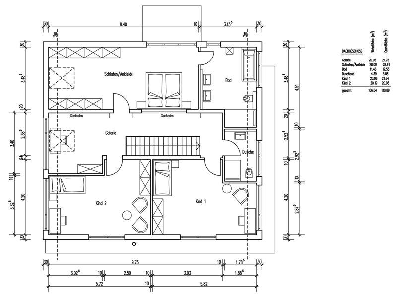 Grundriss einfamilienhaus modern gerade treppe  Massives BAUMEISTER-HAUS - Haus Quandt