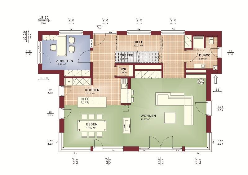 Wandfarben fur kuche ~ Raum Haus mit interessanten Ideen