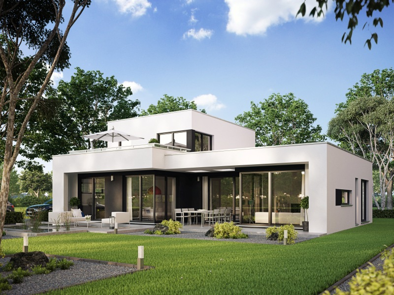 Moderne häuser mit terrasse  Fertighaus von Büdenbender: Haus Casaretto