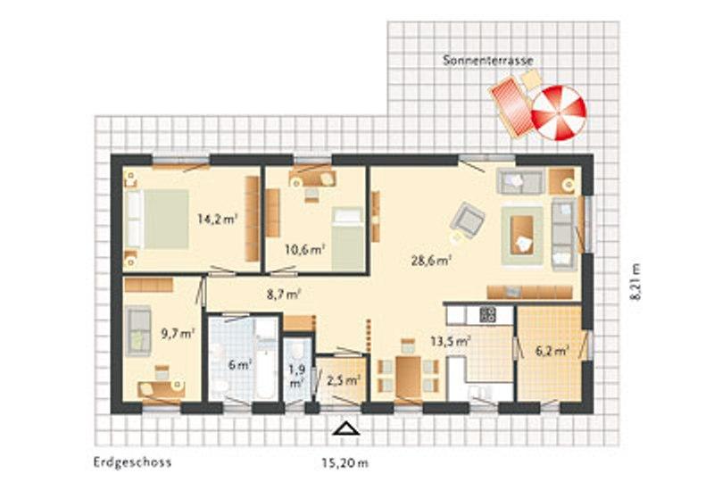 fertighaus von danhaus haus bornholm. Black Bedroom Furniture Sets. Home Design Ideas