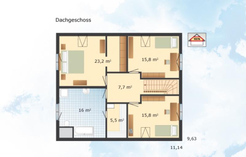 fertighaus von danhaus haus engelsby. Black Bedroom Furniture Sets. Home Design Ideas
