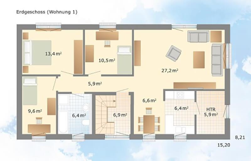 klassisches haus von danhaus haus kopenhagen. Black Bedroom Furniture Sets. Home Design Ideas