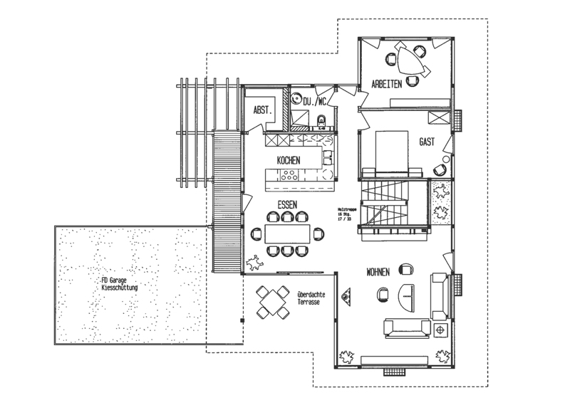 Holzskelettbauweise grundriss  Fertighaus von DAVINCI HAUS - Kundenhaus Rosenberg