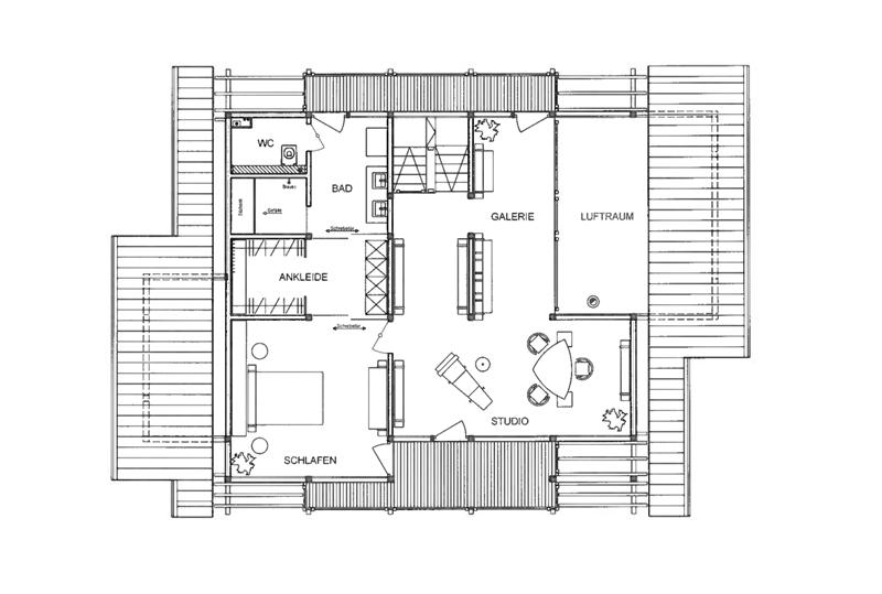 DAVINCI HAUS Kundenhaus Stettner   Grundriss Dachgeschoss