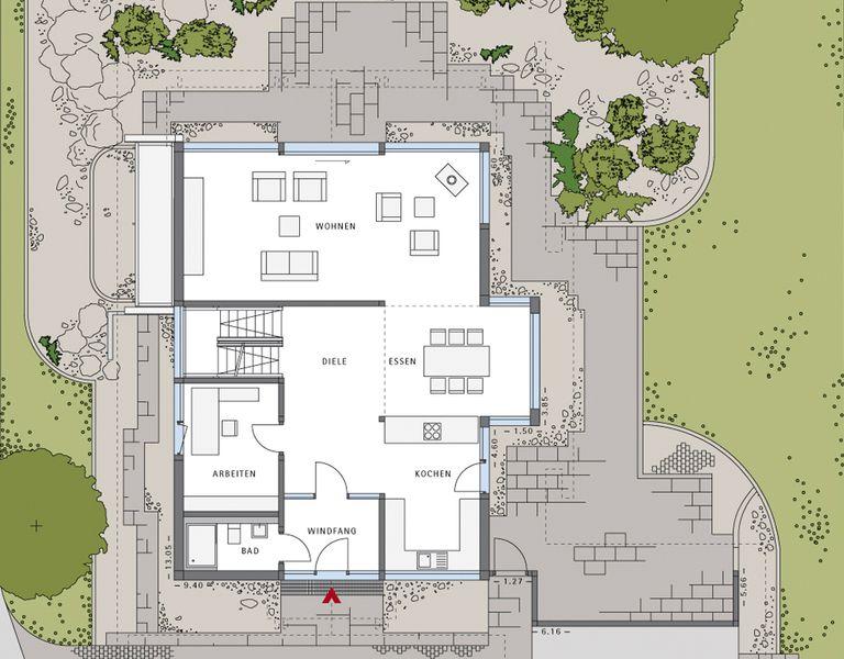 Modernes wohnzimmer grundriss: d raumplaner einfacher zimmer ...