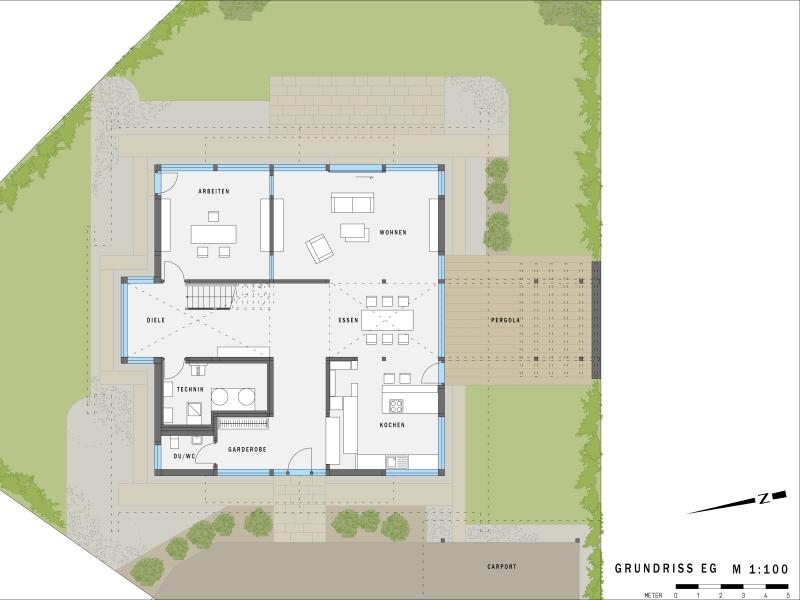 Musterhaus grundriss  HUF HAUS Musterhaus Köln - ART 5 green[r]evolution