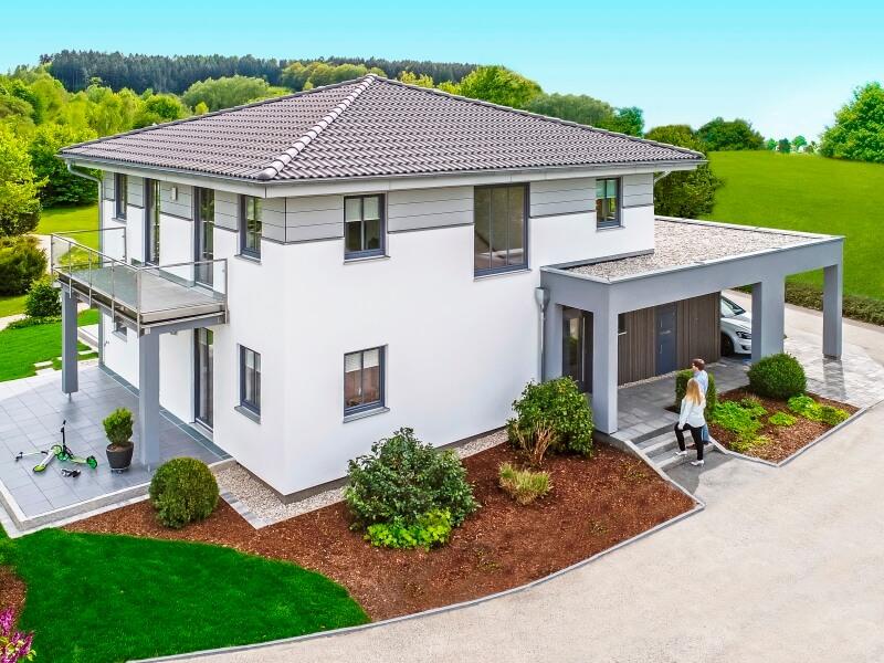 Stadtvilla modern mit anbau  Das Musterhaushaus Haas MH Falkenberg 150