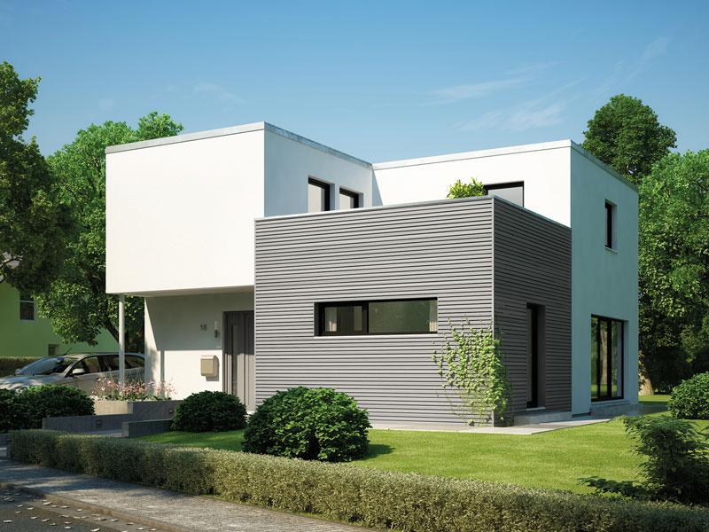 fertighaus von hanse haus cubus 162. Black Bedroom Furniture Sets. Home Design Ideas