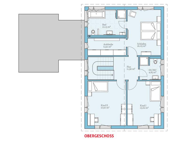Hanse Haus   Variant 169   Grundriss Dachgeschoss