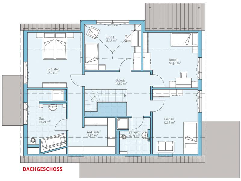 Fertighaus von hanse haus variant 35 235 for Zweifamilienhaus planen