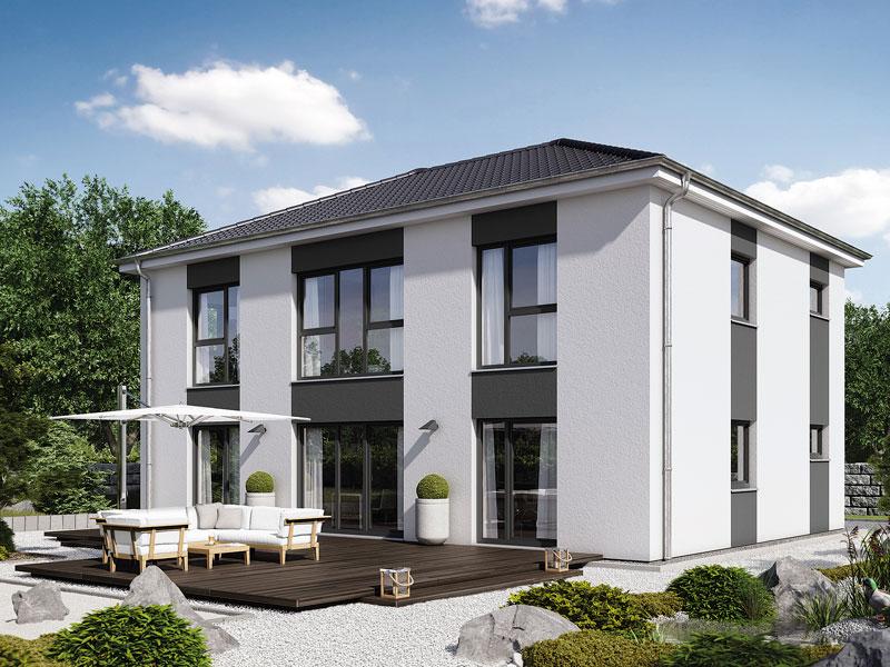 Fertighaus von hanse haus villa 183 for Modernes haus villa