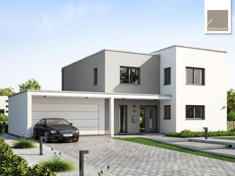 modernes massivhaus von kern haus futura bauhaus. Black Bedroom Furniture Sets. Home Design Ideas