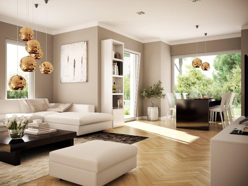 Fertighaus bis von living haus solution 87 v7 - Innengestaltung wohnzimmer ...