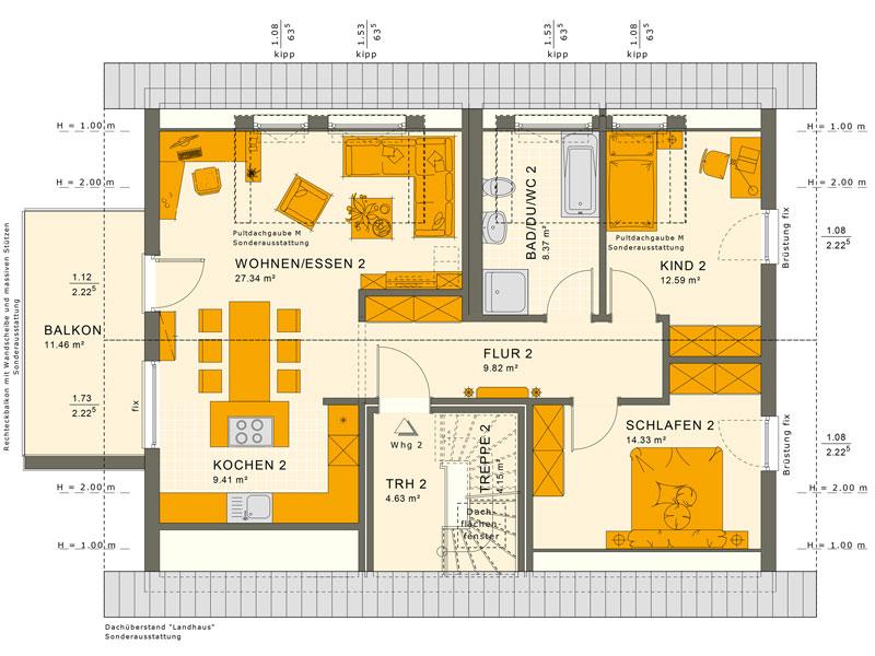 fertighaus von living haus solution 204 v2. Black Bedroom Furniture Sets. Home Design Ideas
