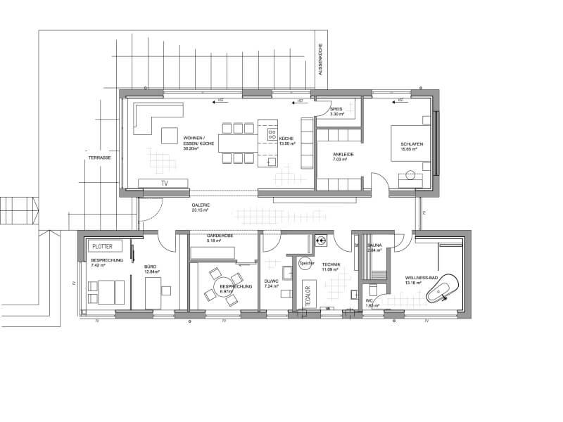 Luxhaus Fellbach 2 platz kategorie bungalow luxhaus musterhaus fellbach