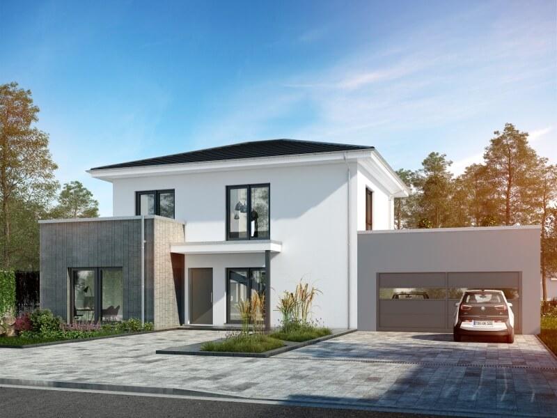 modernes fertighaus von okal musterhaus schkeuditz. Black Bedroom Furniture Sets. Home Design Ideas