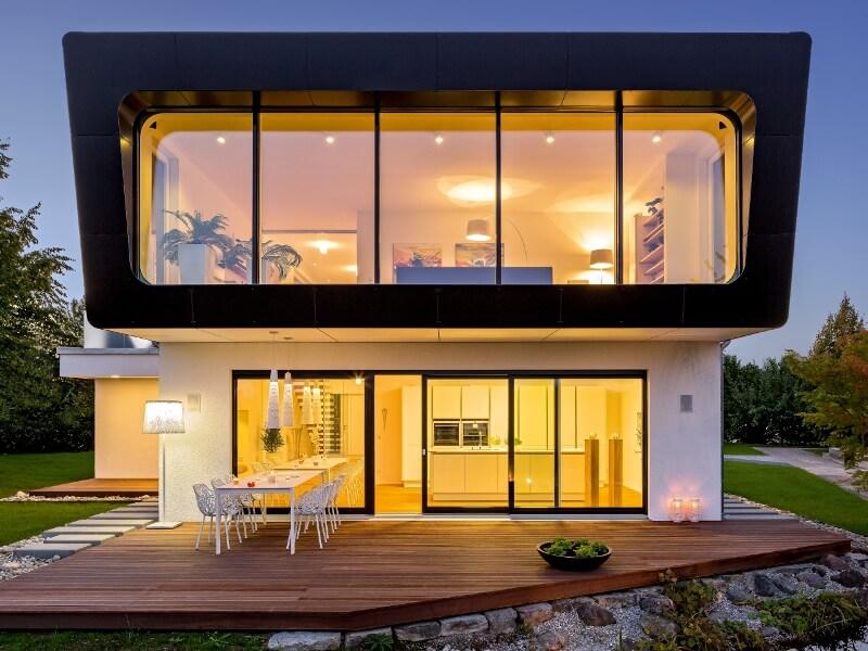 Fertighaus holz glas  Fertighaus von Regnauer Hausbau - Haus Ambienti⁺