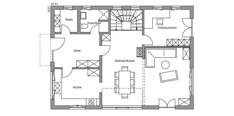 fertighaus von regnauer bayerisch gmain. Black Bedroom Furniture Sets. Home Design Ideas