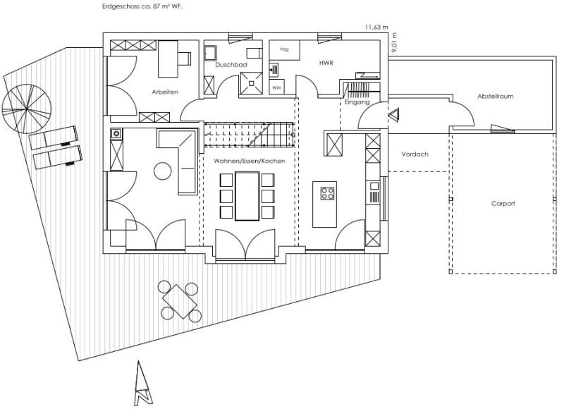 Hausbau zeichnung  Fertighaus von Regnauer Hausbau - Haus Glonn