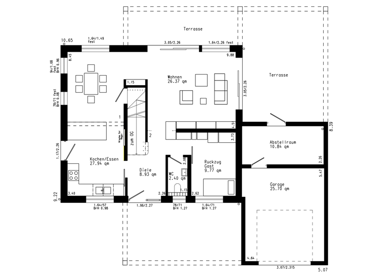 1 platz modern schw rer sch ner wohnen haus. Black Bedroom Furniture Sets. Home Design Ideas