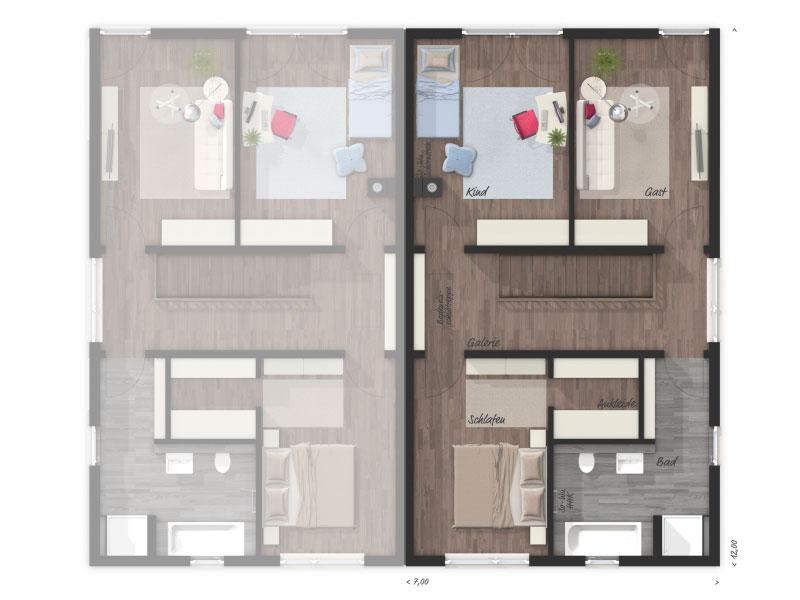1 platz kategorie modern bauhausstil haus aura 136. Black Bedroom Furniture Sets. Home Design Ideas